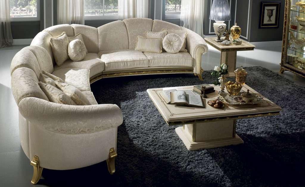 Угловой мягкий диван в классическом стиле от аредо классик