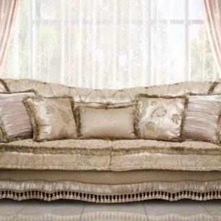 Классический глубокий мягкий диван с креслами Атос