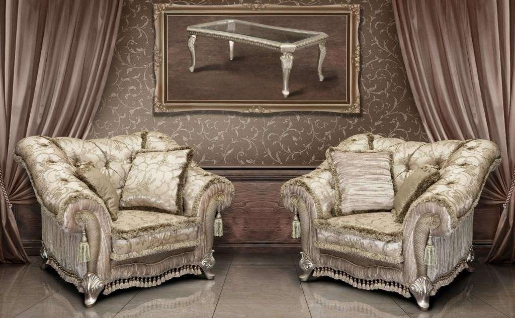 Классические кресла в мебельный гарнитур Атос