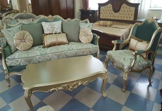 Диван и кресла в золоте Бальтазар