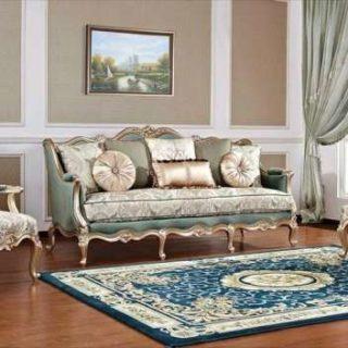 Классический диван с креслами Бальтазар в цвете  золотой антик