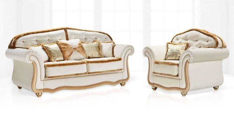 Купить раскладной белый диван Ceasar от производителя Vito Palazzo