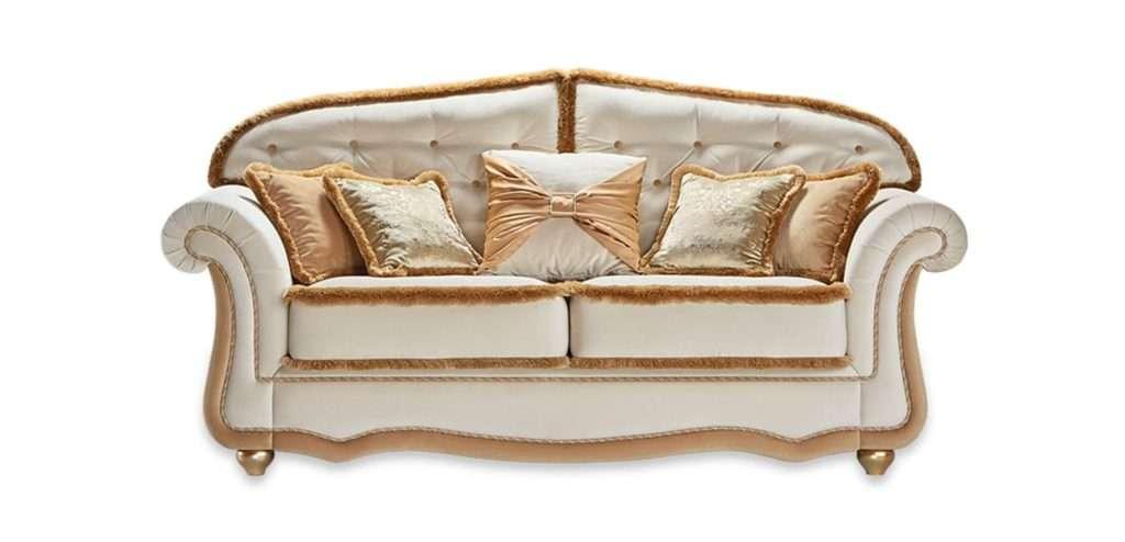 Белый диван Цезарь из массива