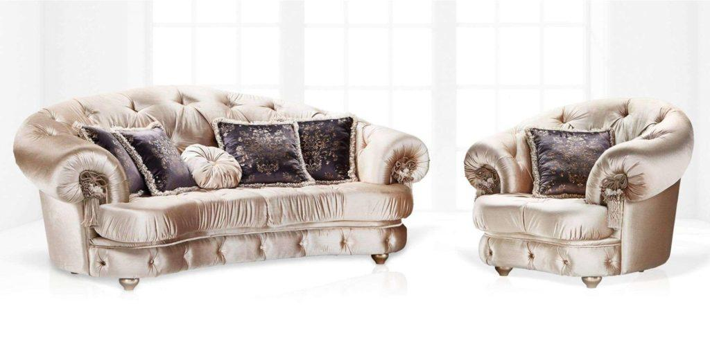 Купить диван в каретной стяжке Diamond от Vito Palazzo в Одессе.