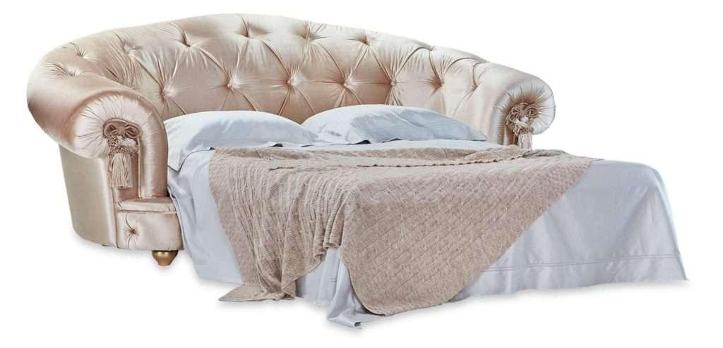 Раскладной диван Диамант  в каретной стяжке