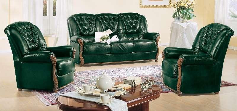 диван Leonardo Camelgroup - вариант обивки в зеленом цвете