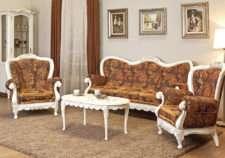 Белая румынская мягкая мебель Флора(Flora) в холл