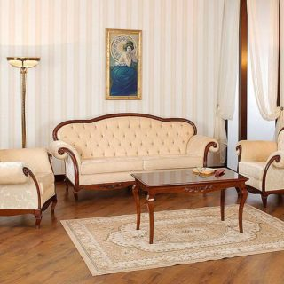 Эксклюзивный мягкий классический диван с креслами Вивере