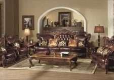 Комплект мебели: кожаный диван Генрих