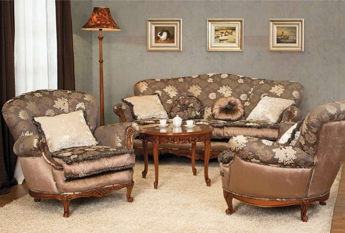 Дорогой мягкий мебельный гарнитур Цезарь. Румыния