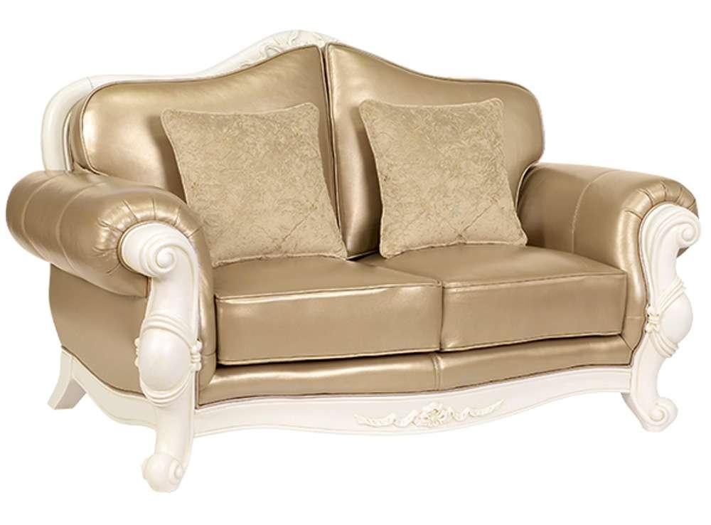 2х местный диван Карпентер 230 в золотой обивке