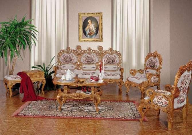 Мебельный классический гарнитур ручной работы Л.Л в стиле Ампир.