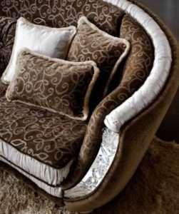 Угловой диван коричневого цвета Miro От arredo classic