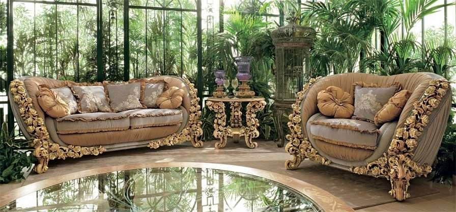 Диван и кресло Bouquet итальянской фабрики Riva