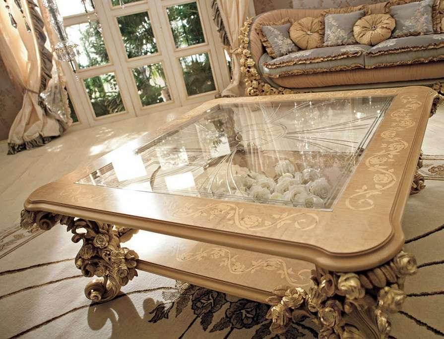 Столик журнальный со стеклянной столешницей Bouquet