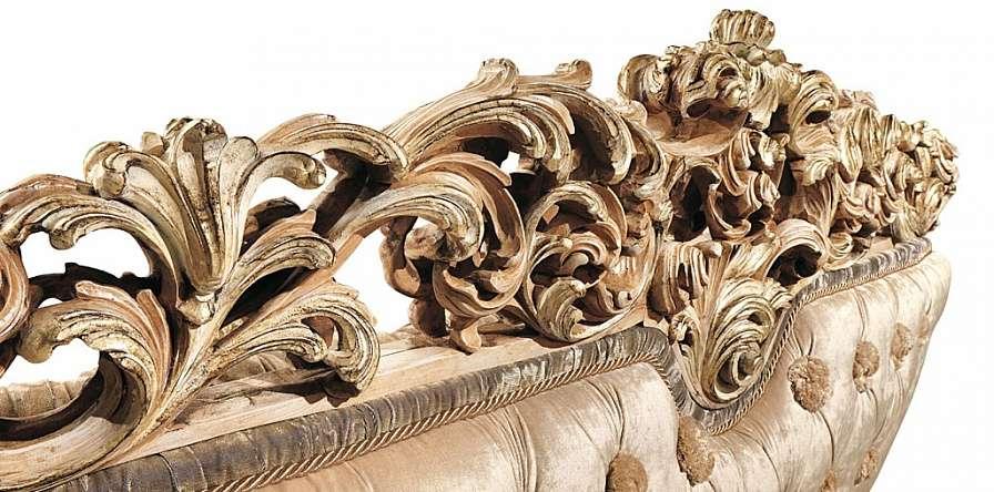Декор резной спинки дивана Simfony от RIVA 7663