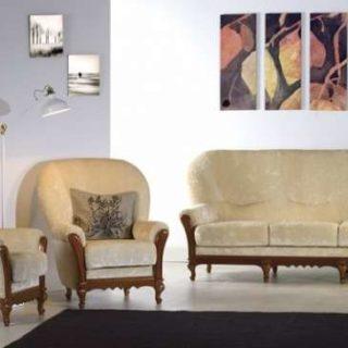 Мягкий диван с креслами Маттео в стиле Ар-деко в холл