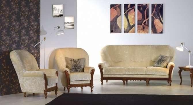 Мягкие диван и кресла Матео в стиле Ар-Деко