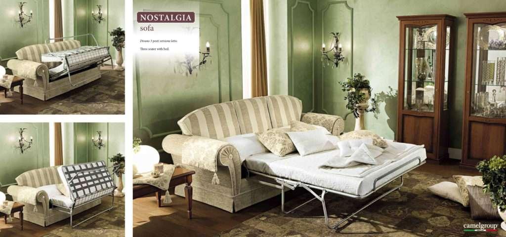 Раскладка спального места в итальянском диване Ностальгия Софа