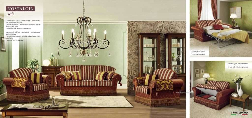 итальянская мебель Кемелгрупп Ностальжи: Диван и два кресла