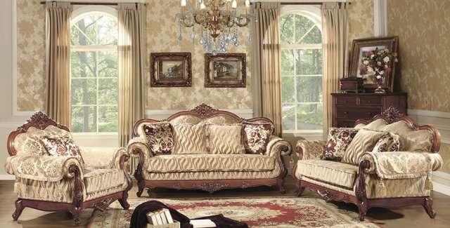 Коричневый диван резной Патриций
