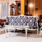 Дорогой мягкий диван с креслами в стиле ампир Амадеус