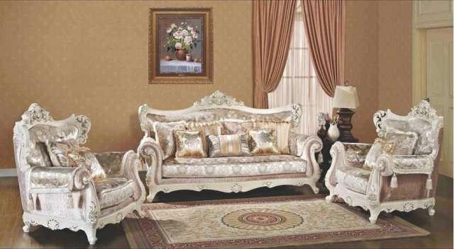 Классическая белая мягкая мебель элит класса Самсон.