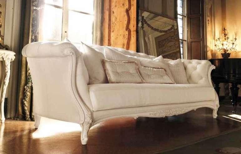 белый мягкий диван в гостиную, Италия