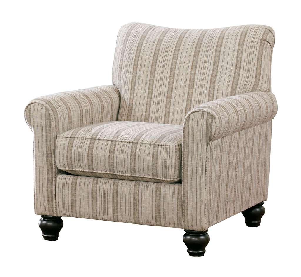 Полосатое кресло к дивану Эшли