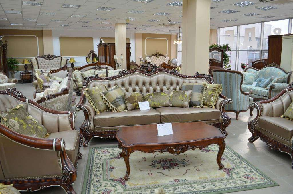 Коричневый классический диван Султан