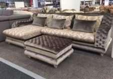 Элитный угловой диван Амалфи с оттоманкой