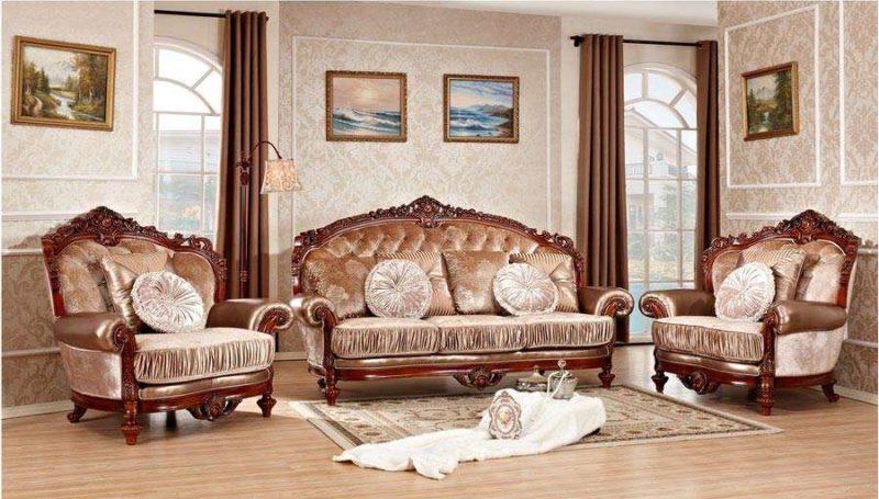 Царский резной диван премиум-класса Цезарь