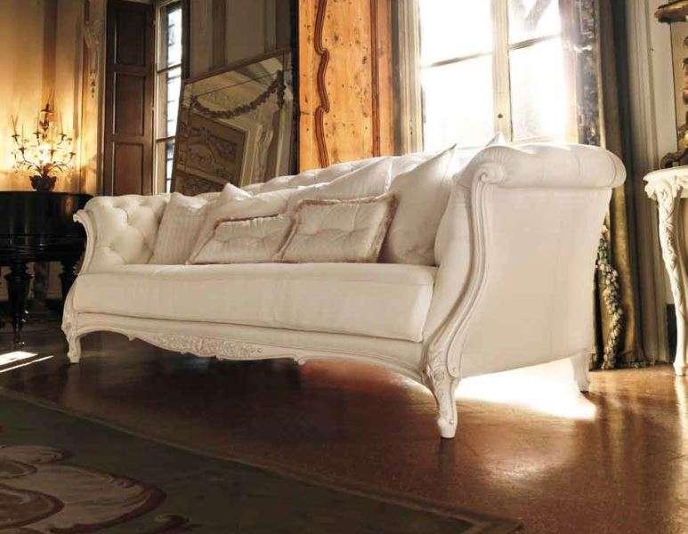 Белый диван с пуговицами 3121 AMBIENTE GIORNO