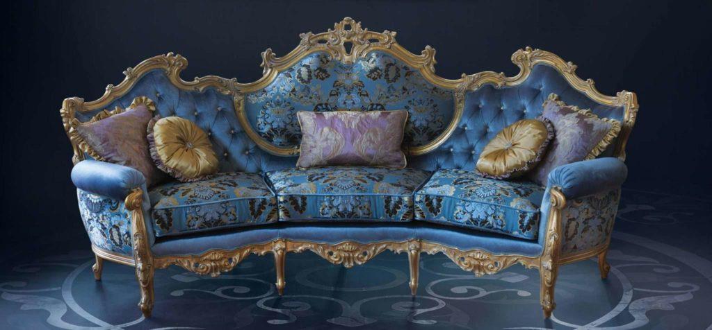 Богатфй дорогой диван в золоте Миллионер. Каспани Тино
