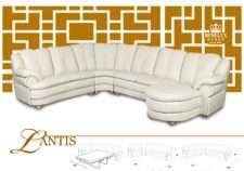 Белый классический угловой диван JANDIS.