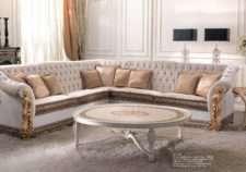 Белый итальянский угловой диван 3019 CEPPI STYLE