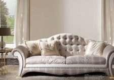 Дорогой диван из крокодильей кожи 2895