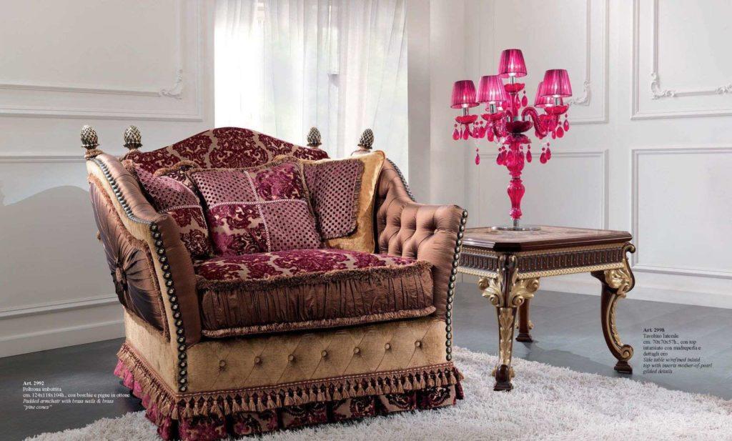 Большое удобное красное кресло 2991