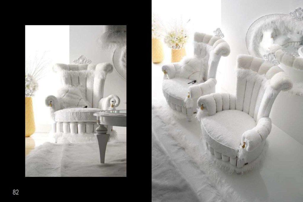Белое королевской кресло Тиффани