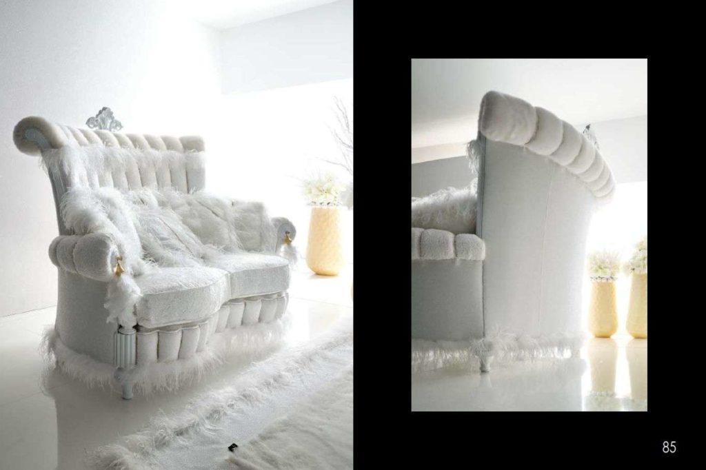 Королевский белый диван Тиффани