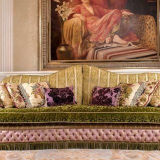 Дорогой яркий диван CRYSTAL. Италия