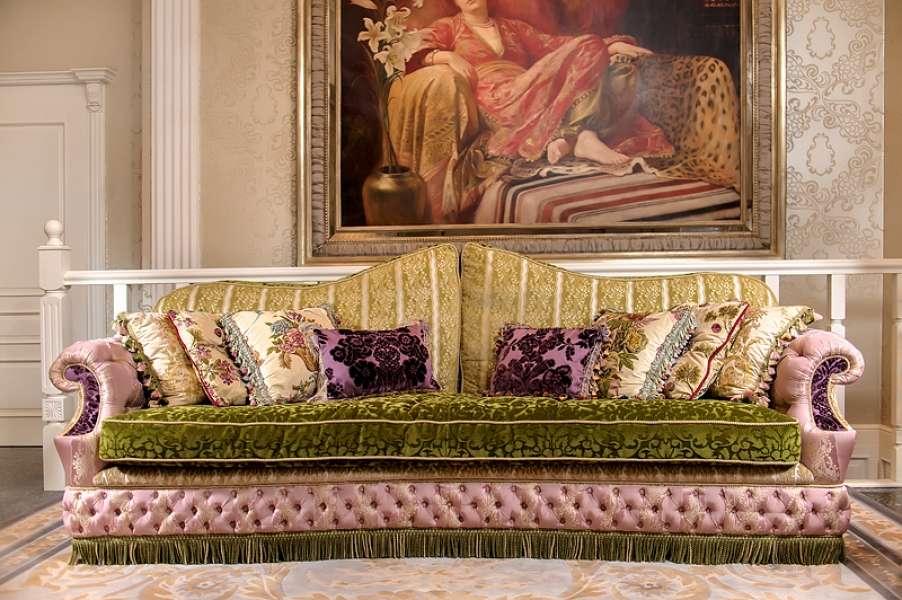 Эксклюзивный цветной дорогой диван Кристал