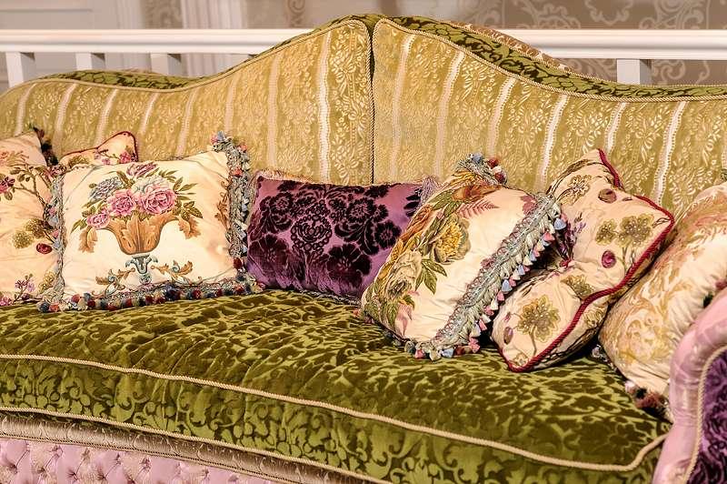 Дорогой цветной диван Кристал, Италия