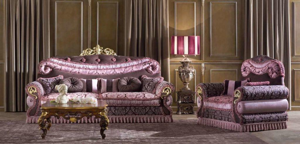 Королевская мягкая мебель Socci Anchise Imperial. Италия