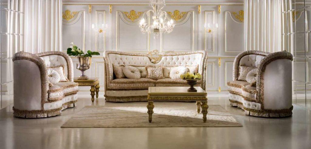 Королевский диван с креслом Socci Anchise Supreme. Италия