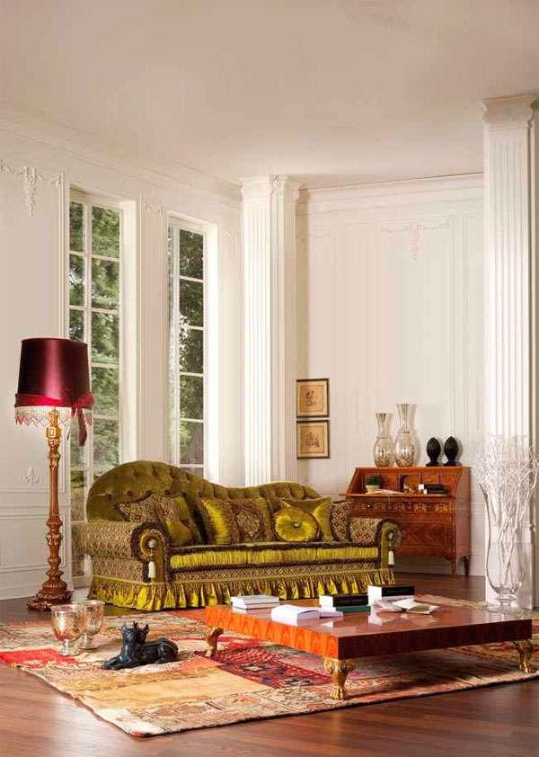 Диван Aldebaran оливкового цвета от Asnaghi Interiors