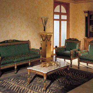 Диван Amalia в Византийском стиле зеленого цвета. Asnaghi Interiors