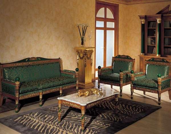 Диван Amalia Asnaghi Interiors в Византийском стиле зеленого цвета