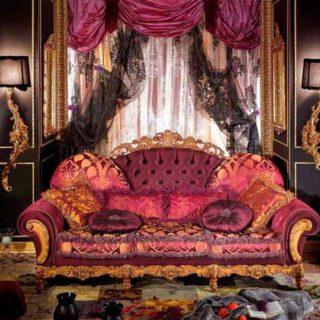 Пёстрый диван розового цвета Dali от фабрики Asnaghi Interiors