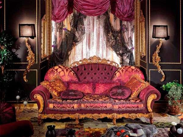 Купить пёстрый диван розового цвета Dali от фабрики Asnaghi Interiors